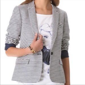 Madewell Pinstripe Linen Blend Blazer